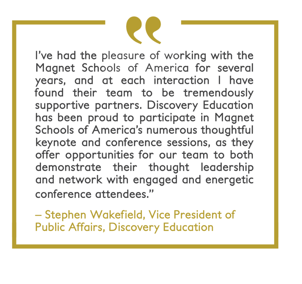 Quote from Stephen Wakefiled of Discovery Education