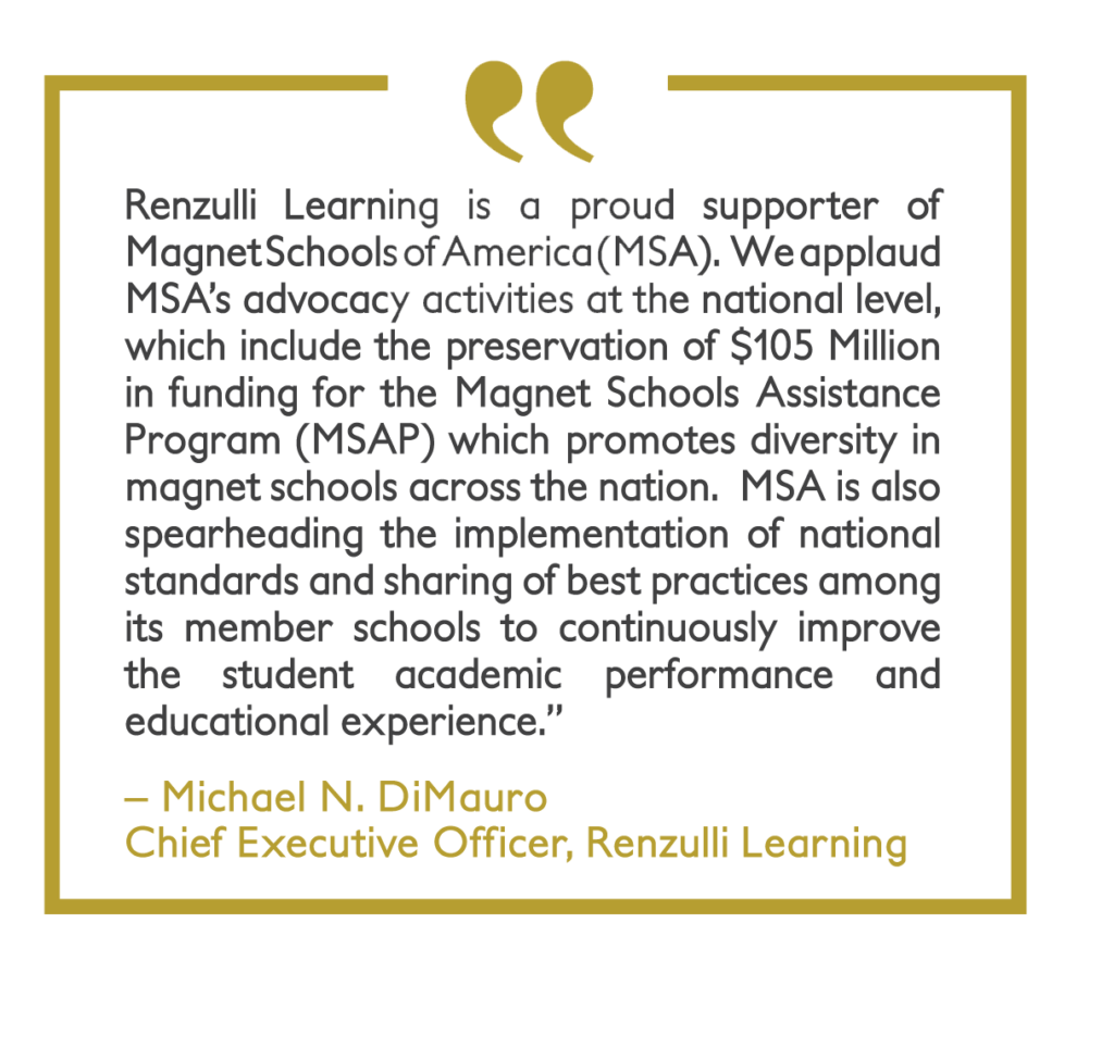 Quote from Michael DiMarauro of Renzulli Learning