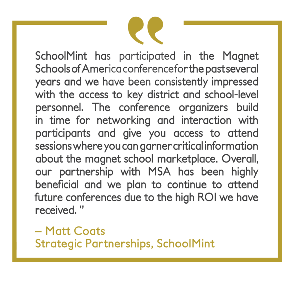 Quote from Matt Coats of SchoolMint